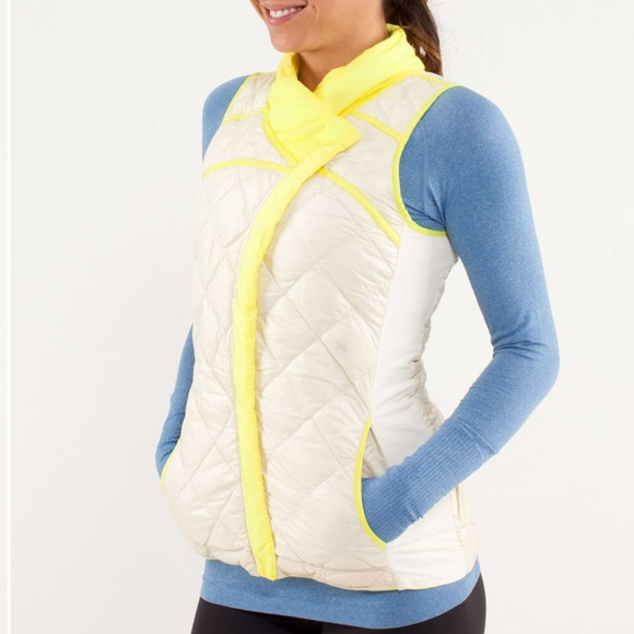 Lululemon What The Fluff Vest Clarity Yellow White